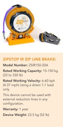 ZIPSTOP IR ZIP LINE BRAKE